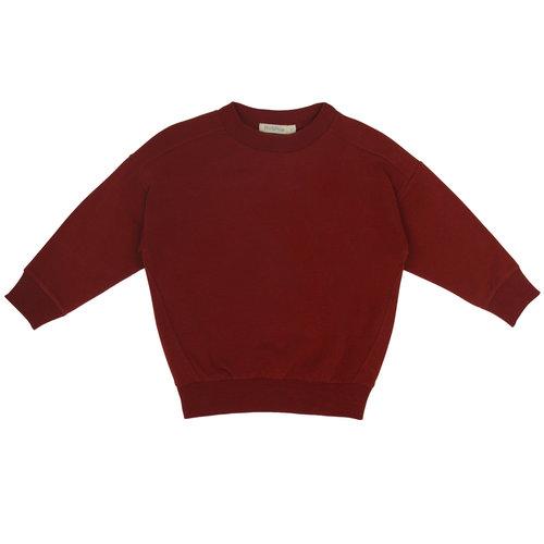 Phil & Phae Phil & Phae | Oversized summer sweater | Deepest brick