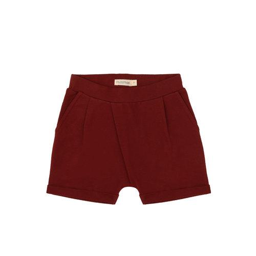 Phil & Phae Phil & Phae | Fold-over shorts | Deepest brick