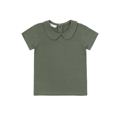 Phil & Phae Phil & Phae | Collar t-shirt SS | Sage green