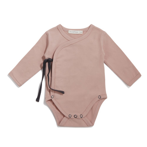 Phil & Phae Phil & Phae | Cross-over body LS | Romper vintage blush