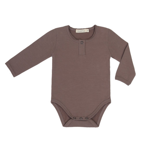 Phil & Phae Phil & Phae | Henley body LS | Romper heather