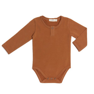 Phil & Phae Phil & Phae | Henley body LS | Romper hazel brown