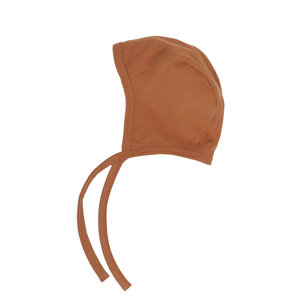 Phil & Phae Phil & Phae | Baby bonnet | Mutsje Hazel brown