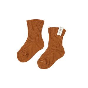 Phil & Phae Phil & Phae | Ribbed baby socks | Hazel brown