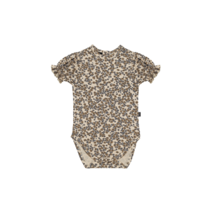 House of Jamie House of Jamie | Puff Shoulder Bodysuit SS | Romper Apple Cider Blossom