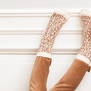 House of Jamie House of Jamie | Ankle Socks | Sokken toffee Leopard