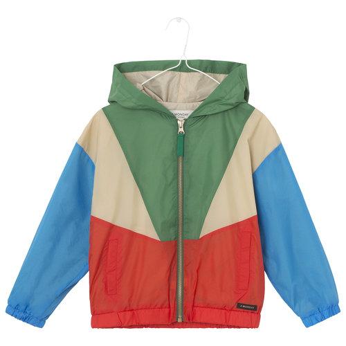 A Monday A Monday   Mio Anorak Jacket   Groen-rood-blauw