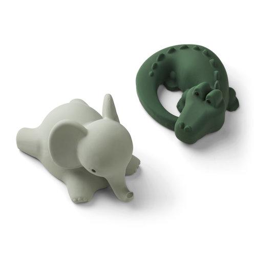 Liewood Liewood   Vikky bath toys 2-pack   Safari green mix