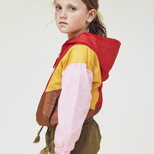 A Monday A Monday | Mio Anorak Jacket | Roze-rood-bruin-geel
