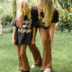 Ammehoela Ammehoela | Mom.05 | Flared pants Leopard MOM