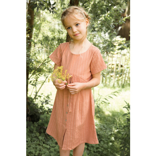 Ammehoela Ammehoela | Girlsdress.01 | Jurk Coral Dust