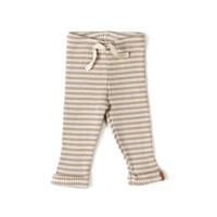 Nixnut | Rib Legging | Biscuit Stripe