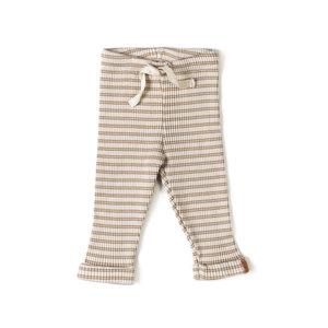 Nixnut Nixnut | Rib Legging | Biscuit Stripe