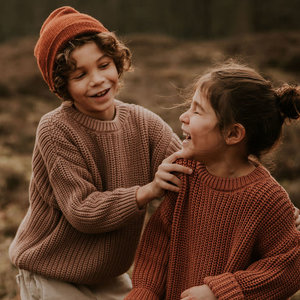 Yuki Kidswear Yuki | Chunky knit Sweater | Brick