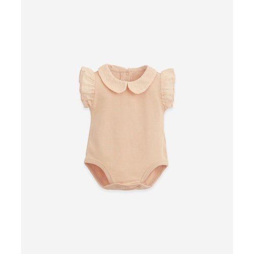 Play Up Play Up | Rib body | Romper met volant en collar | Rose