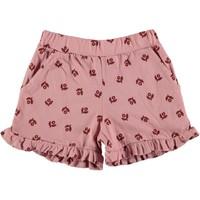 Picnik   Ruffled shorts met bloemetje   Roze