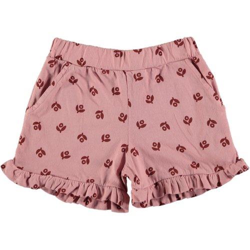 Picnik Picnik | Ruffled shorts met bloemetje | Roze