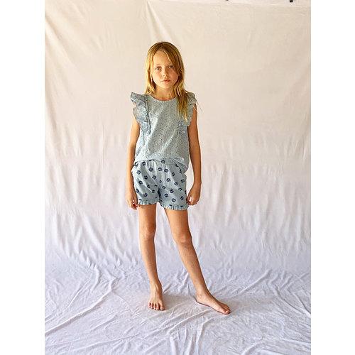 Picnik Picnik | Shorts all over Summer Love print | Blauw