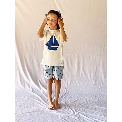 Picnik Picnik | T-shirt met blauwe zeilboot