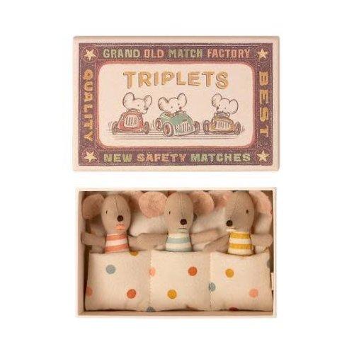 Maileg Maileg | Triplets | Drieling baby muisjes in luciferdoosje