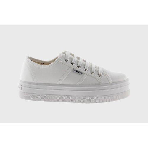 Victoria Victoria | 109200 | Dames sneakers met plateauzool | Blanco