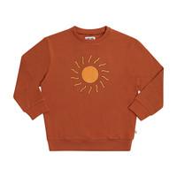 CarlijnQ | Sunshine Sweater | Bruine trui met Zon