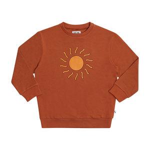 CarlijnQ CarlijnQ | Sunshine Sweater | Bruine trui met Zon
