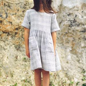 Mingo kids Mingo | Dress Block Pattern | Ruit jurk