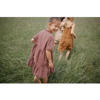 Daily Brat | Celine dress | Embroidery jurk Rose Taupe