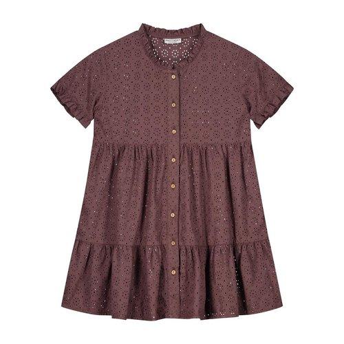 Daily Brat Daily Brat   Celine dress   Embroidery jurk Rose Taupe