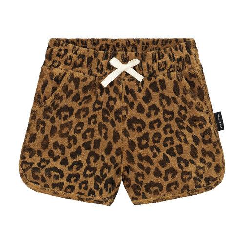 Daily Brat Daily Brat | Leopard Towel shorts | Terry Sandstone broekje