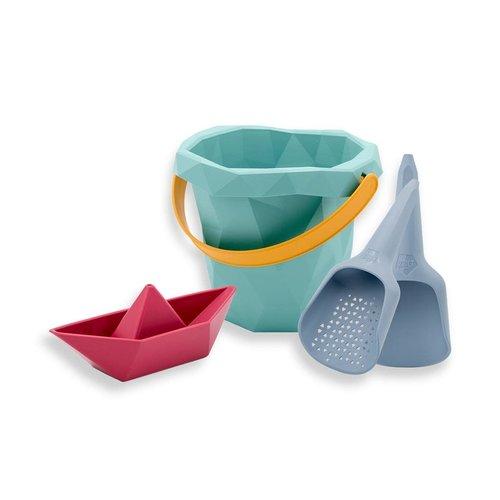 Zsilt Zsilt | Set met emmer, schep, zeef en bootje