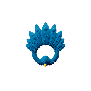 Natruba Natruba | Teether Peacock | Bijtring Pauw blauw