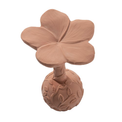 Natruba Natruba | Teether Plumeria | Bijtring Bloem roze