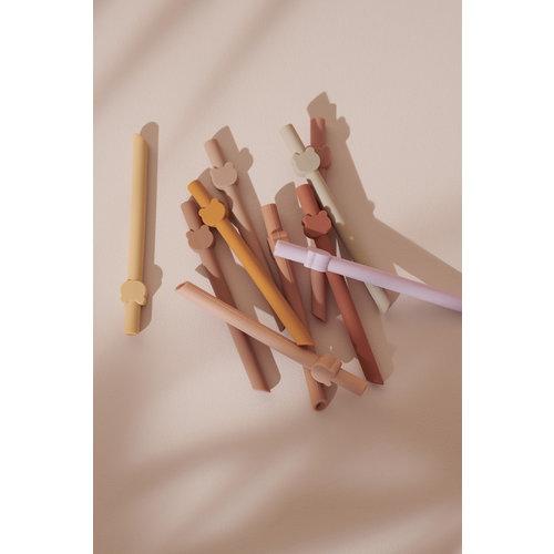 Liewood Liewood | Badu straws | 10-pack siliconen rietjes
