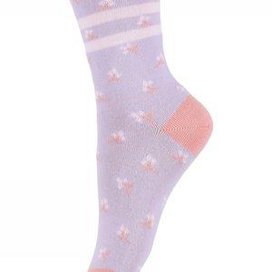 MP Denmark Melton | Natalie bloemetjes sokken | 702 Lila
