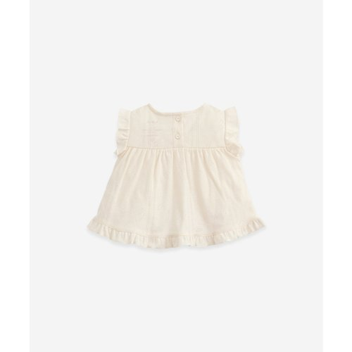 Play Up Play Up   Ajour t-shirt with frill   White