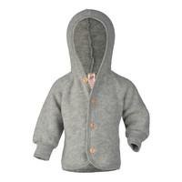 Engel Natur   Hooded Jacket   Baby jasje wol   Grijs