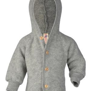 Engel Natur Engel Natur | Hooded Jacket | Baby jasje wol | Grijs