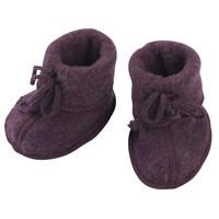 Engel Natur | Baby booties | Slofjes wol | Purple melange