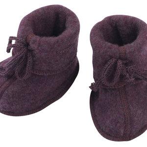 Engel Natur Engel Natur | Baby booties | Slofjes wol | Purple melange