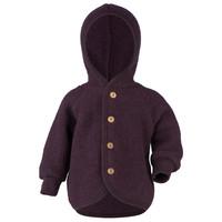 Engel Natur   Hooded Jacket   Baby jasje wol   Purple melange