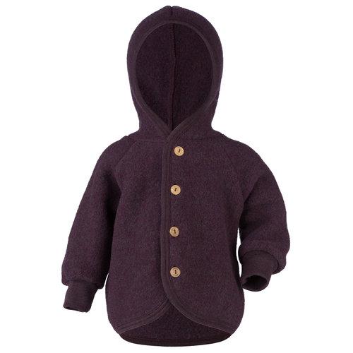 Engel Natur Engel Natur   Hooded Jacket   Baby jasje wol   Purple melange
