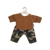 Hollie | Poppenbroek en -shirt | Camouflage Ochre