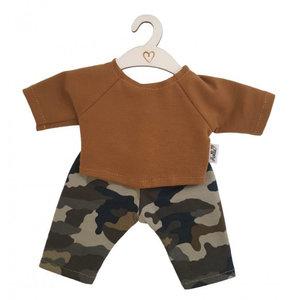 Hollie Hollie | Poppenbroek en -shirt | Camouflage Ochre