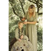 Ammehoela | MomDress.03 | Maxi dress army grey