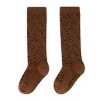Daily Brat | Stippled socks | Kniesokken brown