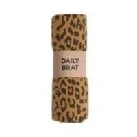 Daily Brat | Leopard swaddle | Sandstone