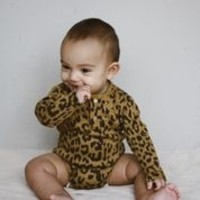 Daily Brat | Leopard bodysuit LS | Romper sandstone