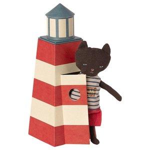 Maileg Maileg | Sauveteur tower with cat | Vuurtoren met kat